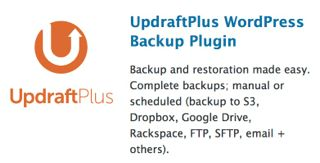 Backup med UpDraftPlus Plugin